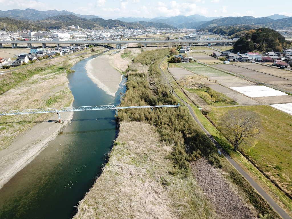 太田川ICT河道掘削工事 施工後