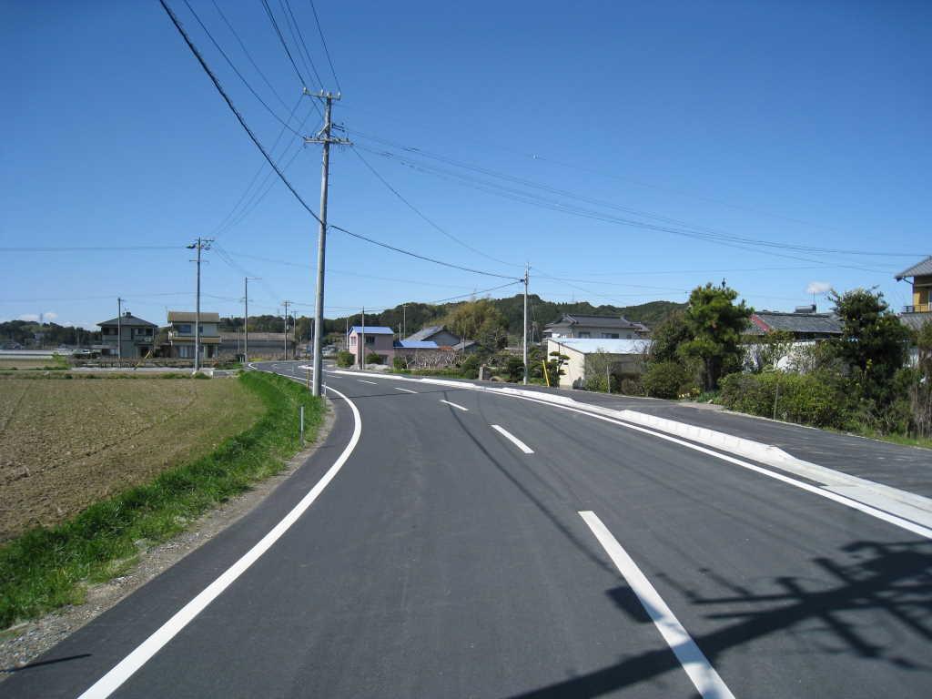 焼津森線道路拡幅工第1工区 施工後